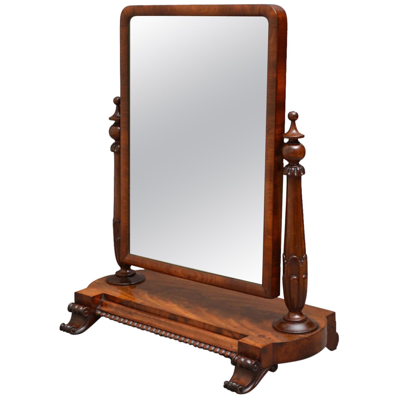 William IV Mahogany Dressing Table Mirror