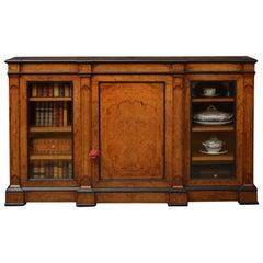 Victorian Walnut Low Bookcase