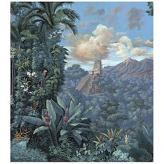 Mayana Tropical Panoramic Mural