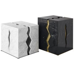 "Beautiful Black & White Marble Coffee Tables ""Crepa"""