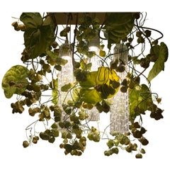 Flower Power Physalis and Anthurium Chandelier, cm h 80 65x65, Italy