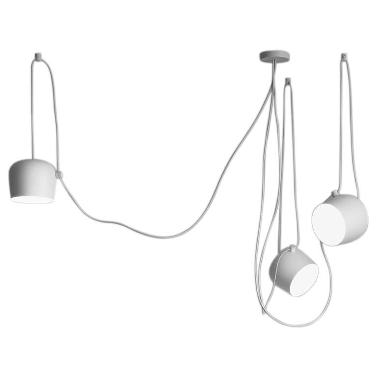 Flos Aim White Three-Lamp Light Set with Canopy by Ronan & Erwan Bouroullec For Sale