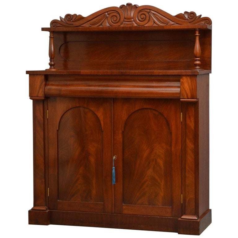 Early Victorian Mahogany Chiffonier For Sale