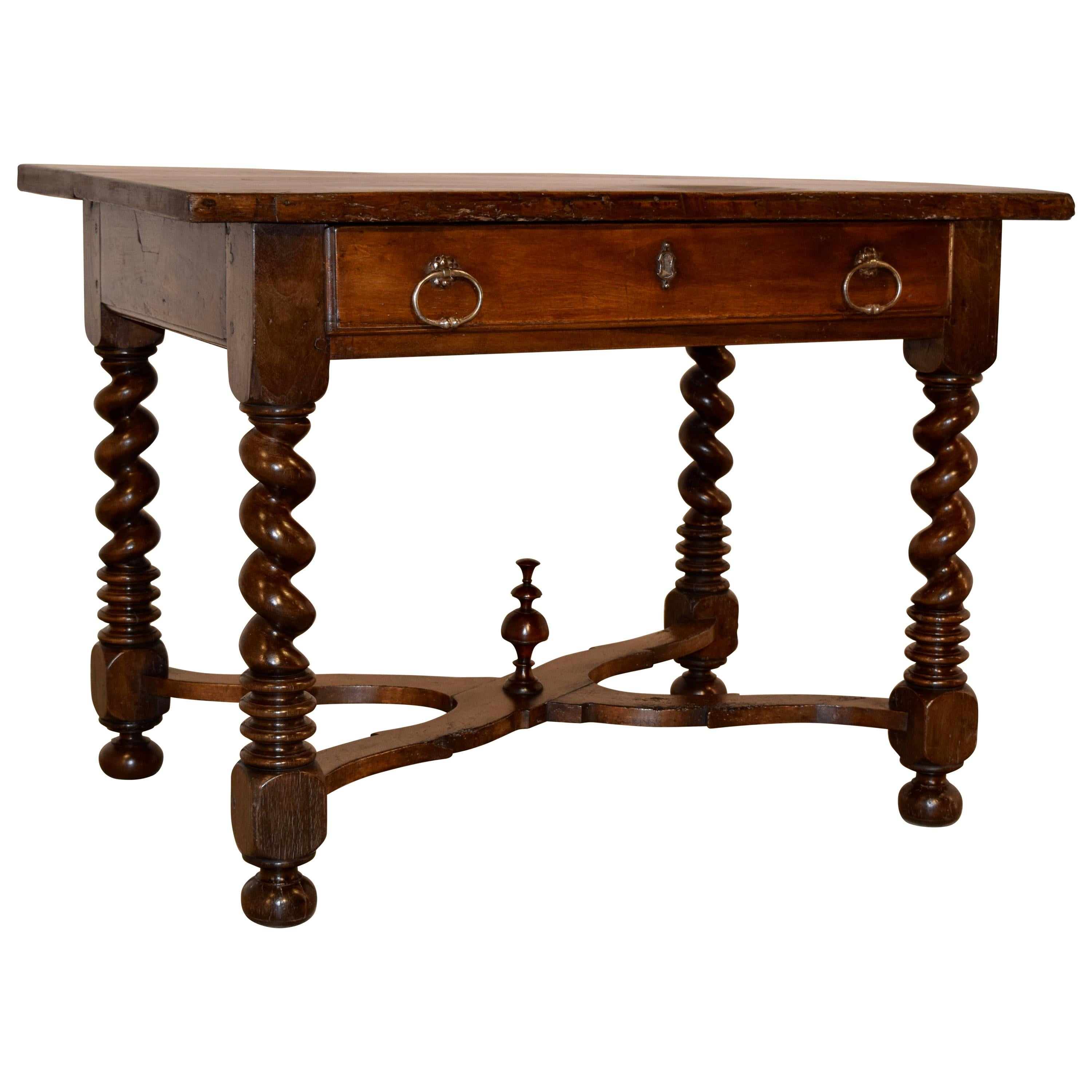 19th Century French Walnut Library Table