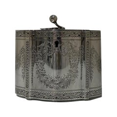 Mid-19th Century Victorian Sterling Silver Tea Caddy London 1860 William Smily