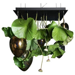 Flower Power Lotus with Eggs in glass Chandelier, cm h 100 150x150, Italy