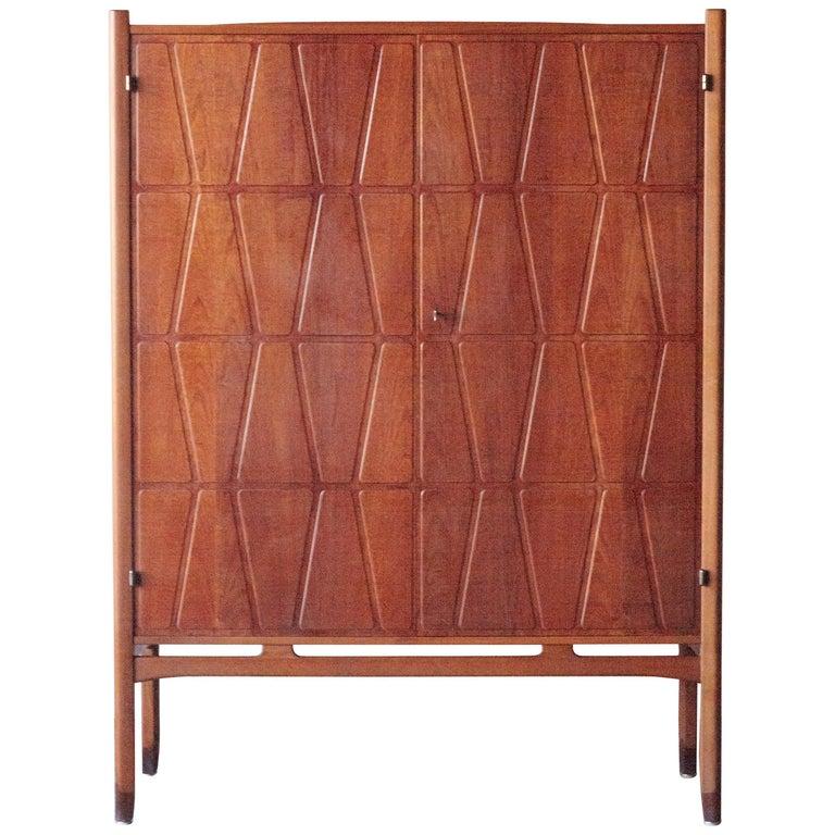 Bangkok Cabinet by Yngve Ekström 'Ekstrom' for Westbergs Mobler, 1950s, Sweden For Sale