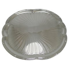 Antique French Christofle Silver Plated Tray, circa 1896 Art Nouveau