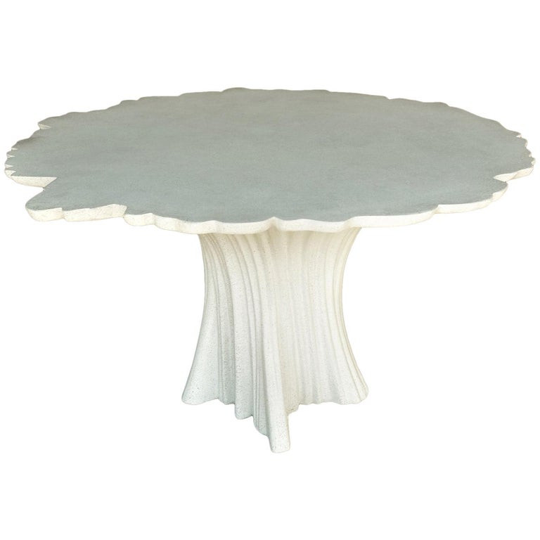 Cast Resin 'Perennial Cypress' Dining Table, White Stone by Zachary A. Design 1