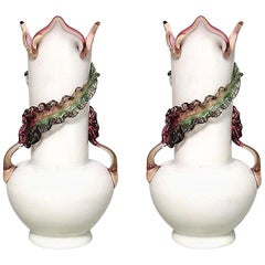 Pair of Italian 1930s Murano Glass Vases