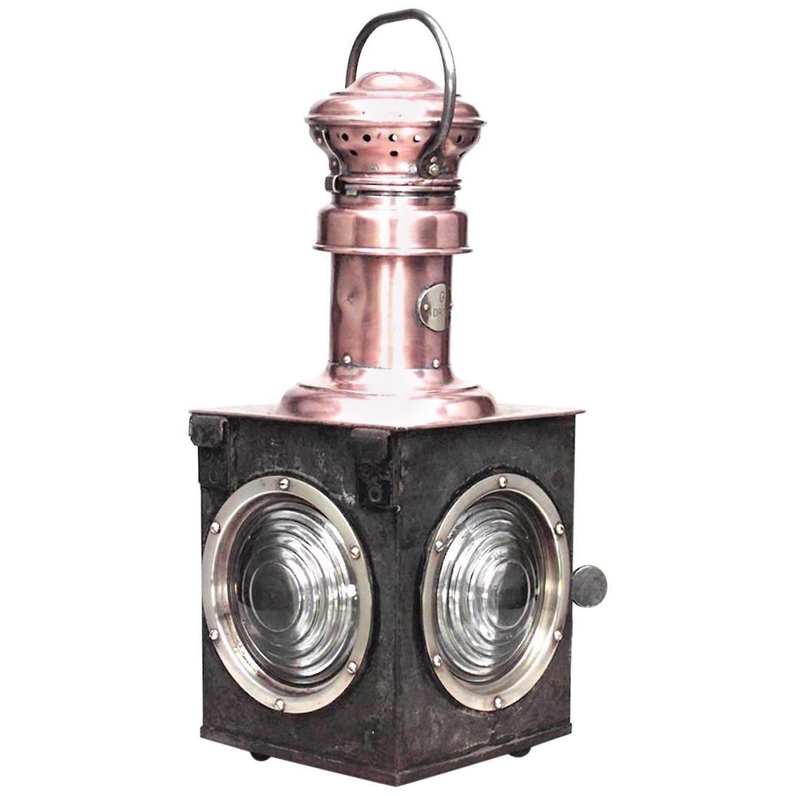 French Victorian Copper Railroad Lantern