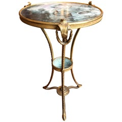 19th Century Bronze and Onyx Table
