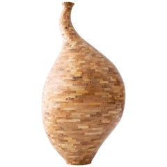 Contemporary Spalted Maple Goose Neck Vase #1 by Richard Haining, Available Now