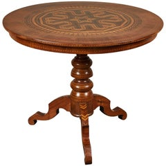 19th Century Inlaid Italian Circular Table from Rolo