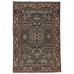 Vintage Persian Tribal Malayer Rug, Blue and Gray Field