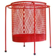 Wire Iron Modernist Waste Basket by Maurice Ducin, circa 1953