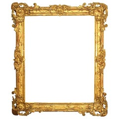 French Louis XV Style Large Gilt Carved Frame