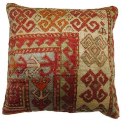 Antique Turkish Sivas Rug Pillow