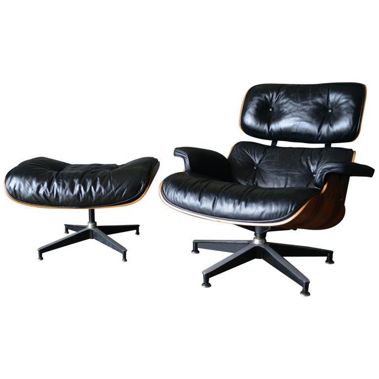 Eames Rosewood Lounge Chair and Ottoman, circa 1971