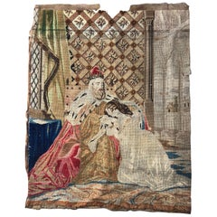 Nice Antique Needlepoint French Tapestry