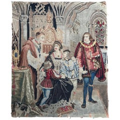 Antique Needlepoint French Tapestry