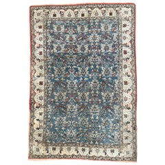 Very Beautiful Vintage Indian Garden Design Rug