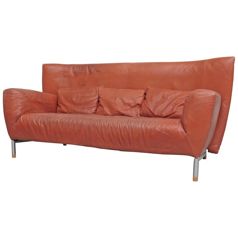Gerard van den Berg for Montis Leather Sofa For Sale