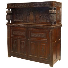 English Charles II Style Oak Court Cupboard