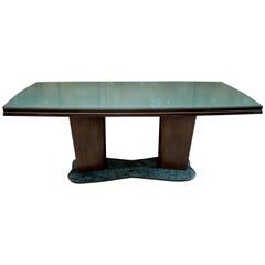 Vittorio Dassi Midcentury Italian Glass and Marble Dining Table, 1950s