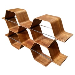 "Bentwood ""Honeycomb"" Bookcase by Bill Curry"