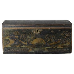 Regency Chinoiserie Original Painted Table Top Box
