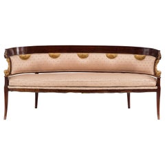 English Regency Mahogany Settee