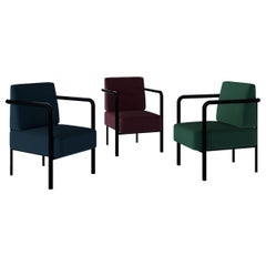 Contemporary Armchair Vintage Style 'Tilda' Red, Blue and Green