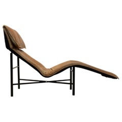 Sophisticated Cognac Leather 'Skye' Chaise Longue by Tord Björklund, Sweden 1970