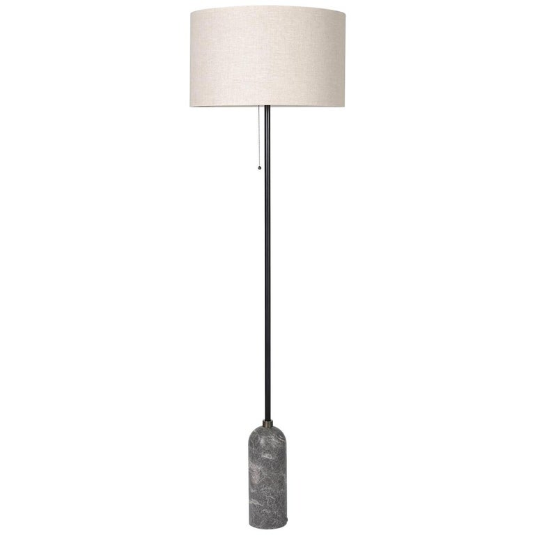 Gravity Floor Lamp, Grey Marble For Sale
