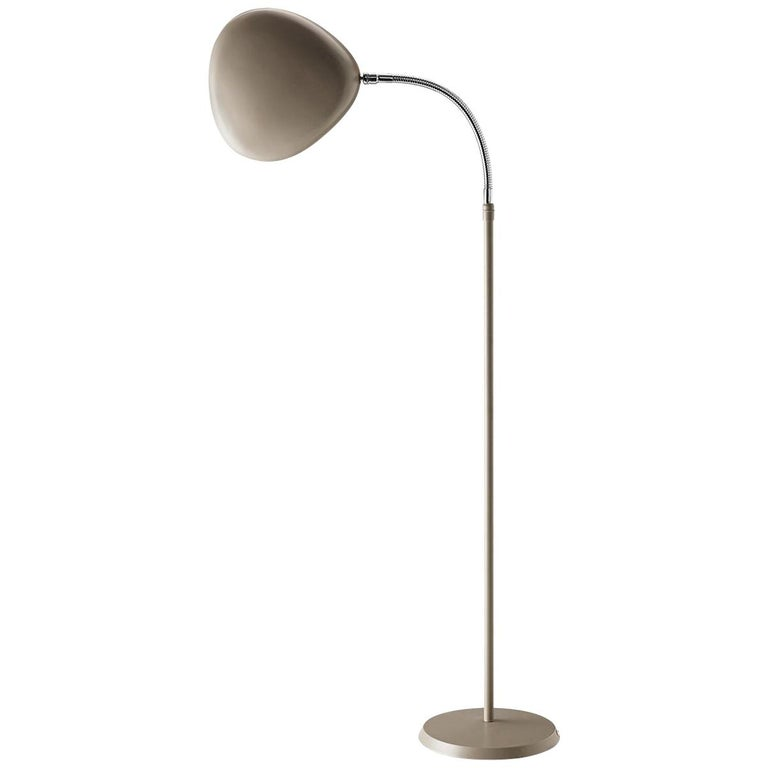 Greta Grossman Cobra Floor Lamp, Warm Grey For Sale