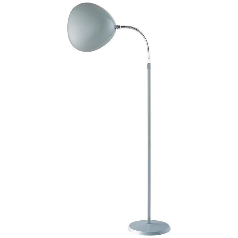 Greta Grossman Cobra Floor Lamp, Dusty Blue For Sale