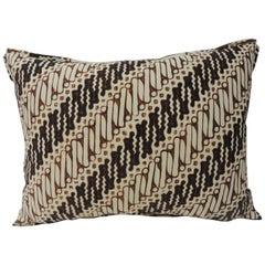 Vintage Brown and Black Batik Decorative Bolsters Pillows