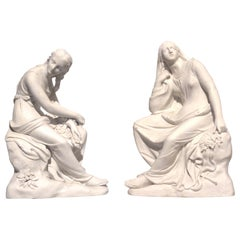 Pair of 1848 English Victorian Classical Female Figures