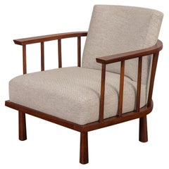 T.H. Robsjohn Gibbings Barrel Lounge Armchair for Widdicomb
