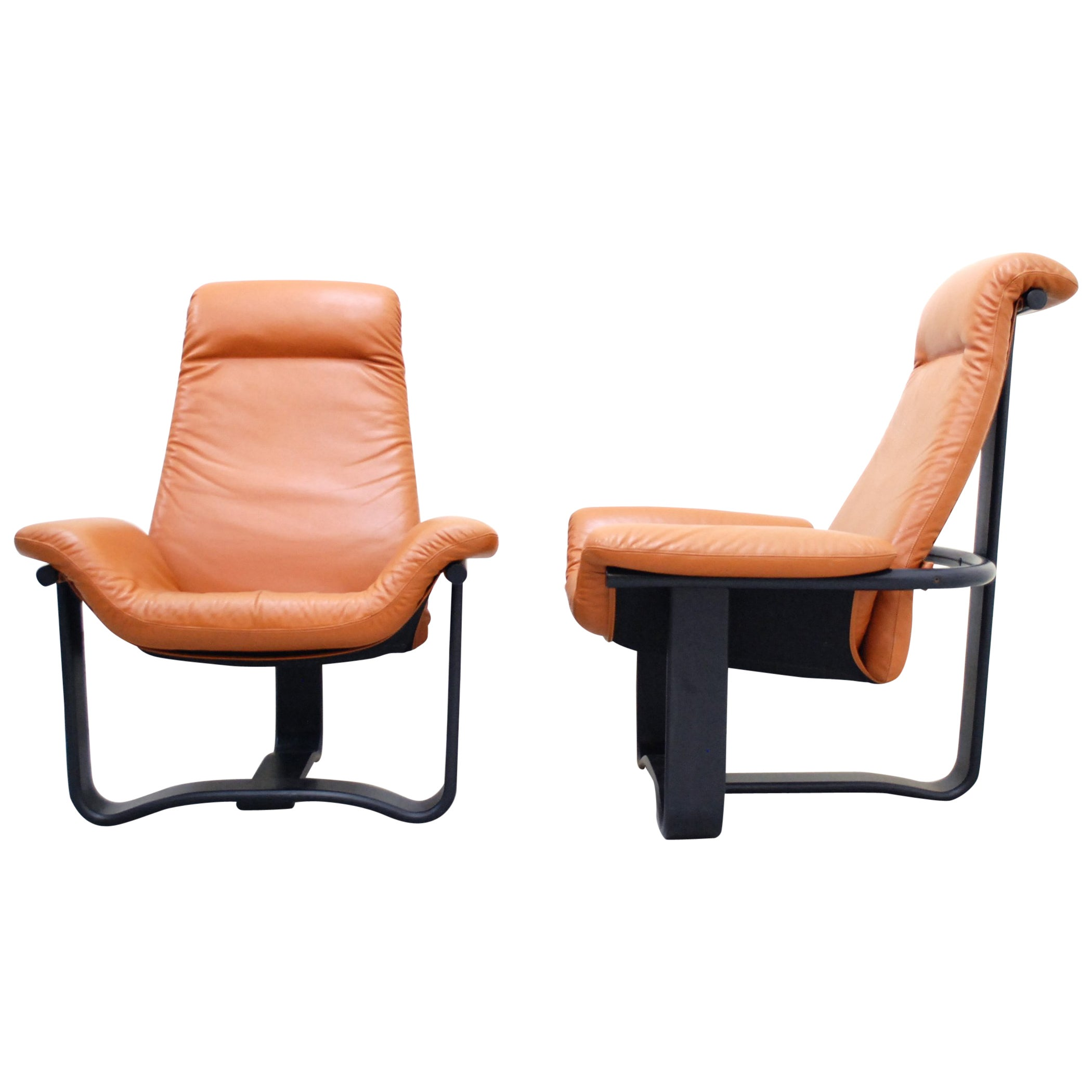 Westnofa Model Manta Cognac Leather Lounge Chair