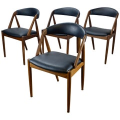 Set of 4 Kai Kristiansen Model 31 Dining Chairs in Teak