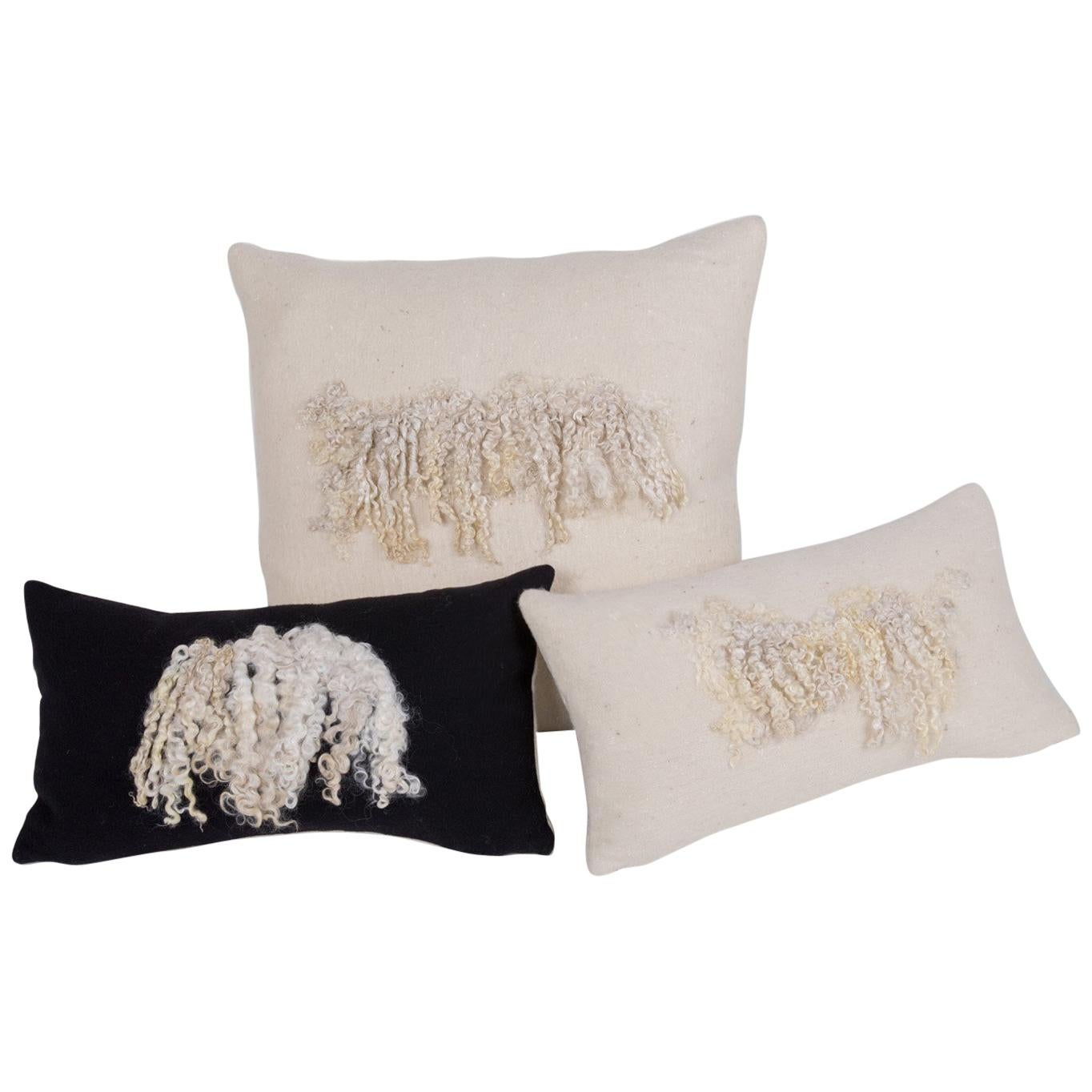 Wool and Silk Wensleydale Artisan Heritage Sheep Collection, Set of 3