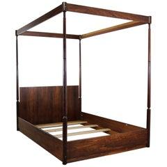 Arne Hovmand-Olsen Rosewood Canopy Full-Size Bed Midcentury Scandinavian Modern