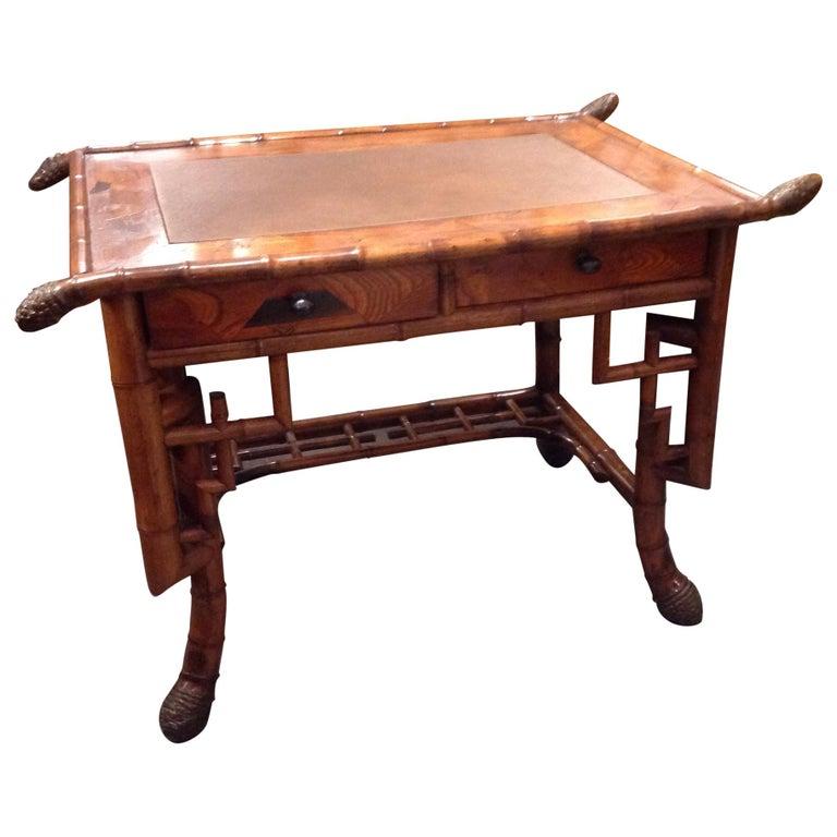 Superior 19th Century Bamboo Desk For Sale