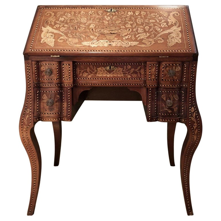 Inlaid Desk Early 20th Century For Sale