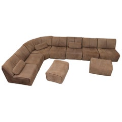 Large COR Leather Modular Sectional Sofa with 2 Ottomans