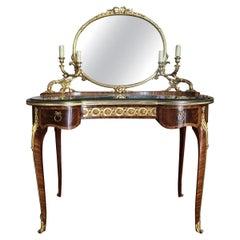 François Linke montiert Tisch De Toilette, Ende 19tes Jahrhundert
