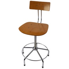 Adjustable Swivel Architects Drafting Stool Made in Italy