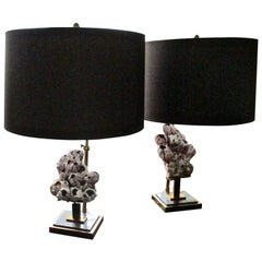 """Pair of """"Balanes"""" Table Lamps by Willy Daro, Belgium, 1970"""